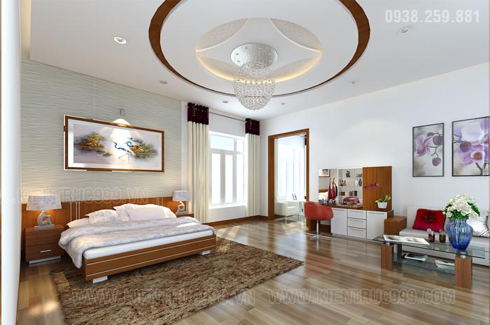 Phòng ngủ master nổi bật, sang trọng, đẳng cấp và rất tiện nghi.