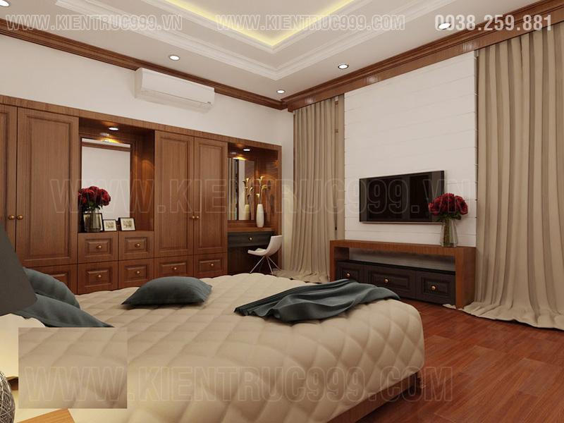 Thiết kế nội thất phòng ngủ nhà 2 mặt tiền đẹp buôn mê